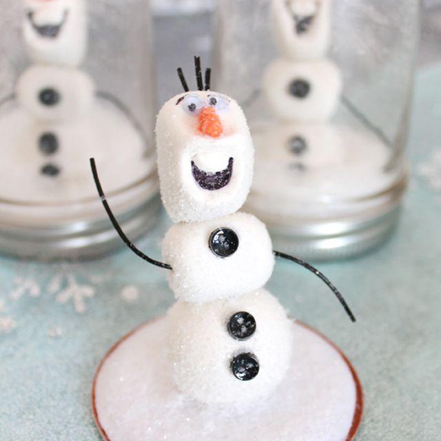 diy frozen snowglobe idea