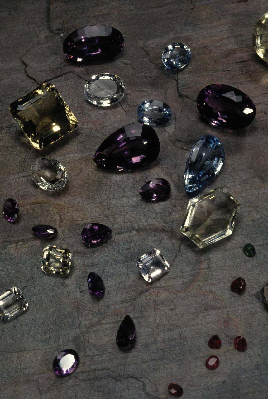 An assortment of gemstones