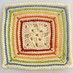 Crochet Rainbow Granny Square