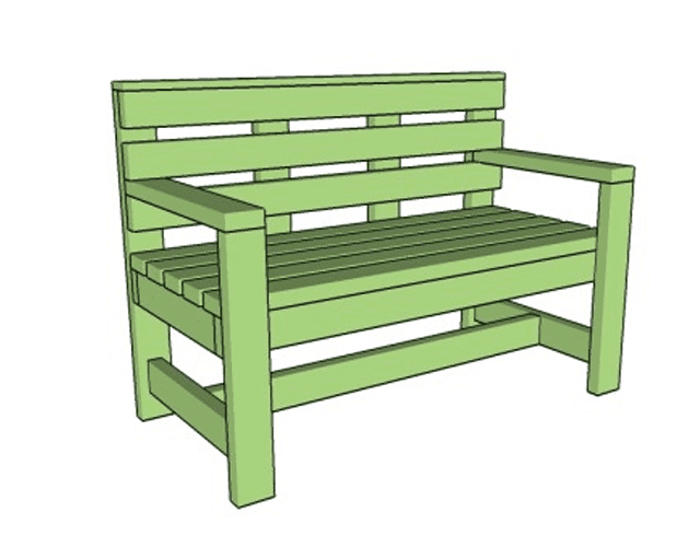 how to build a wooden bench with backrest