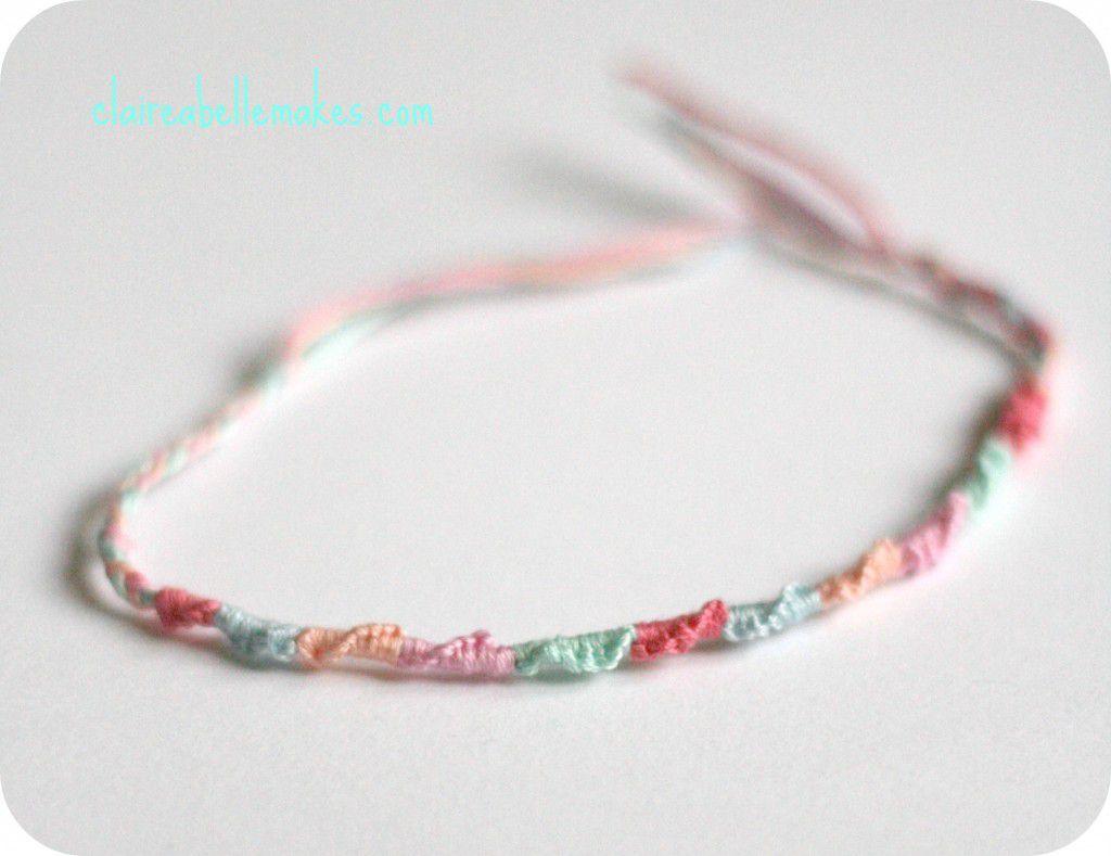 DIY Spiral Friendship Bracelets