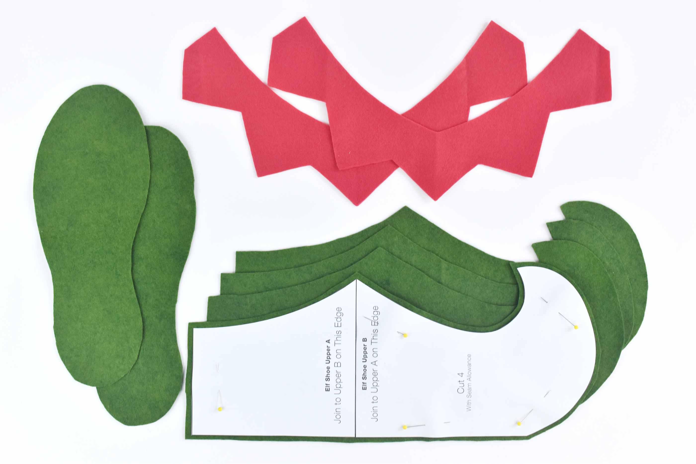 feea6531fc8 How to Sew Felt Elf Shoes