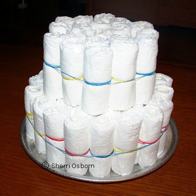 How to Make the Diaper Cake's Second Level