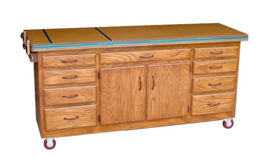 17 free workbench plans and diy designs a rolling workbench with cabinets and drawers solutioingenieria Choice Image