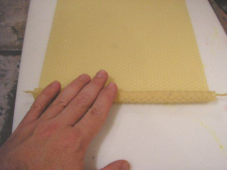 Continuing to roll the beeswax sheet