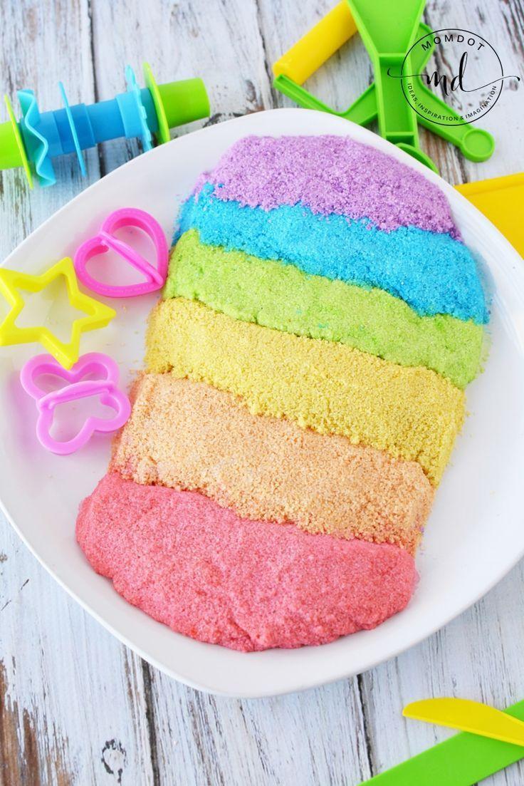 rainbow kinetic sand