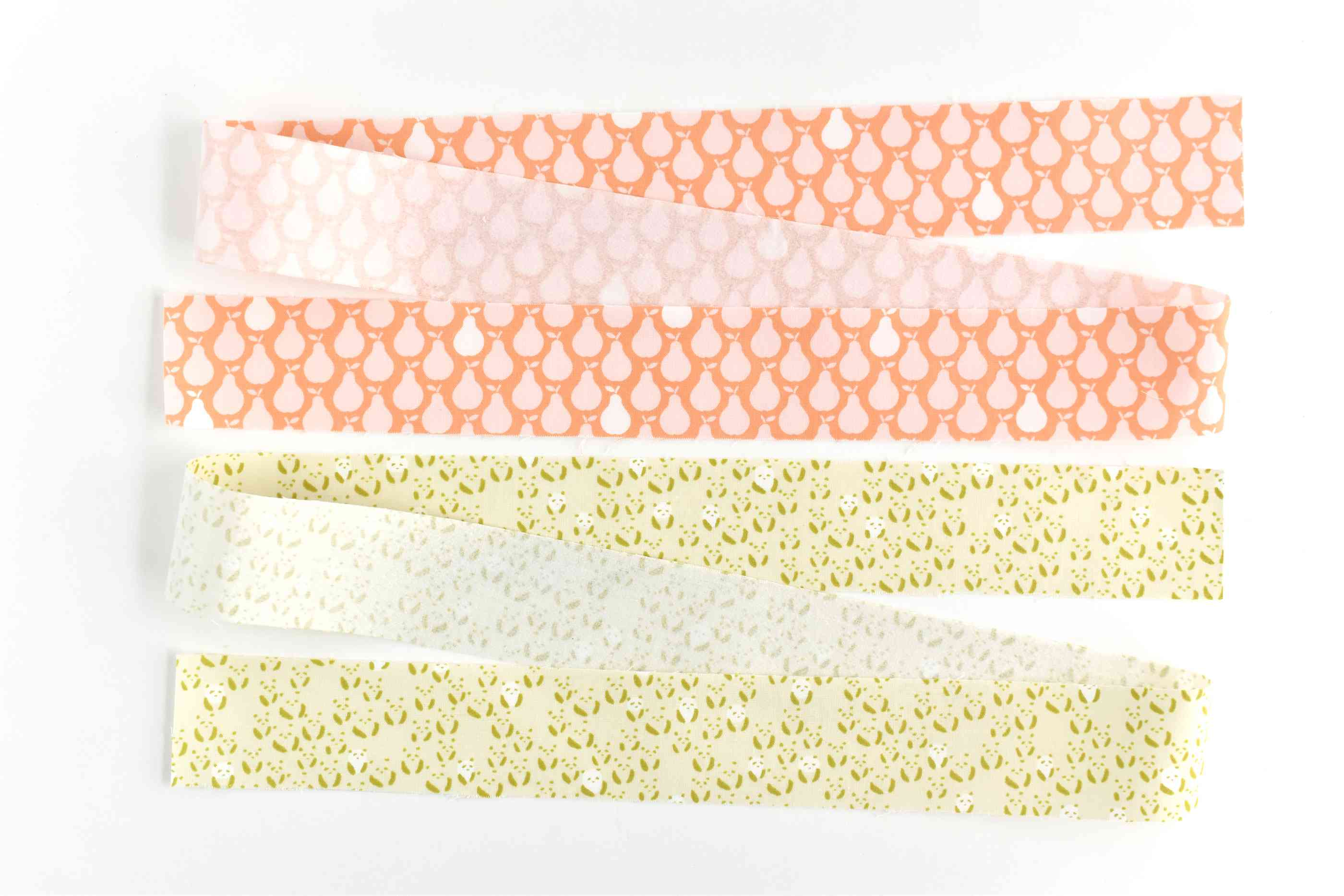 Cut Strips of Fabric With Interfacing