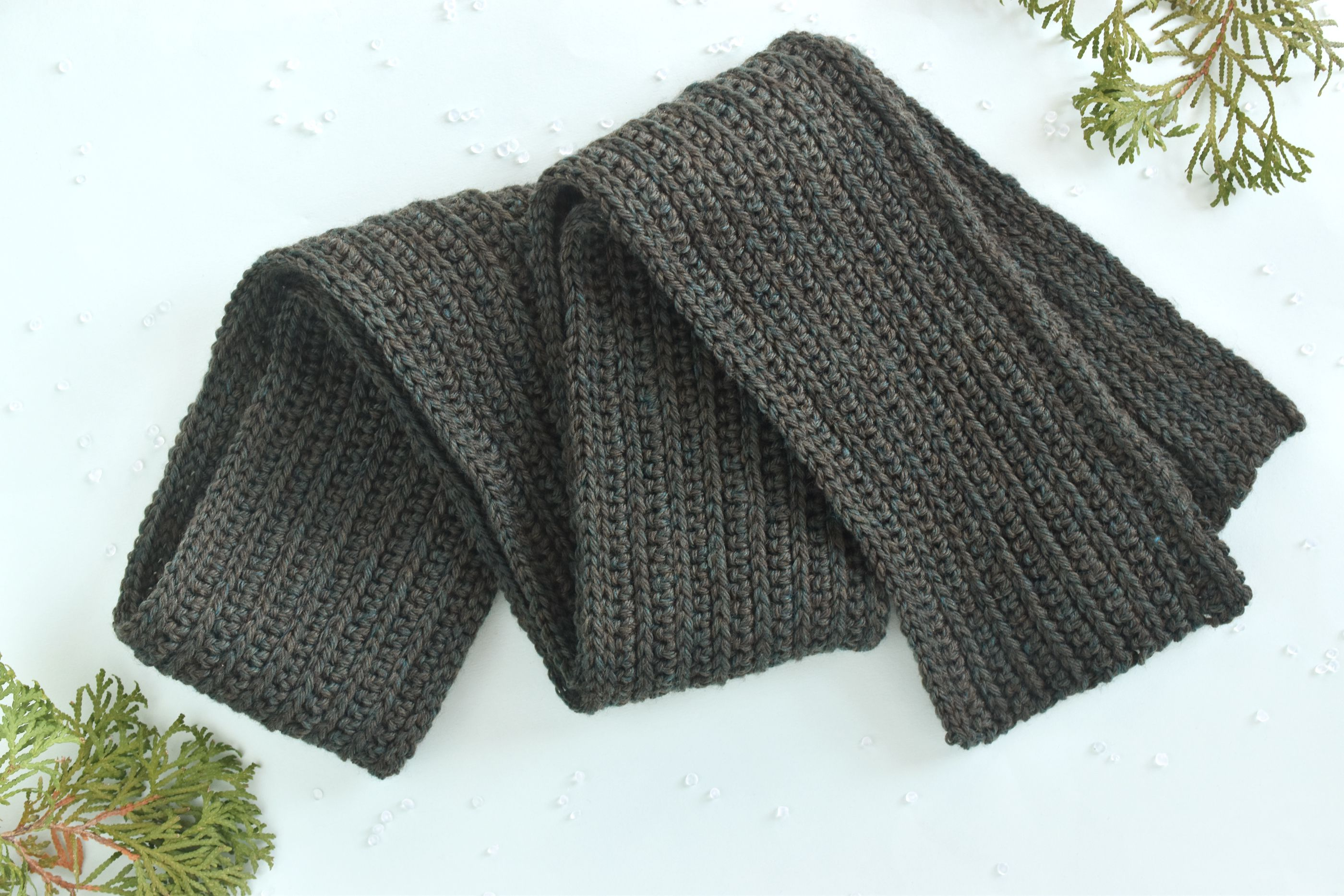 Mens Classic Winter Scarf Free Crochet Pattern