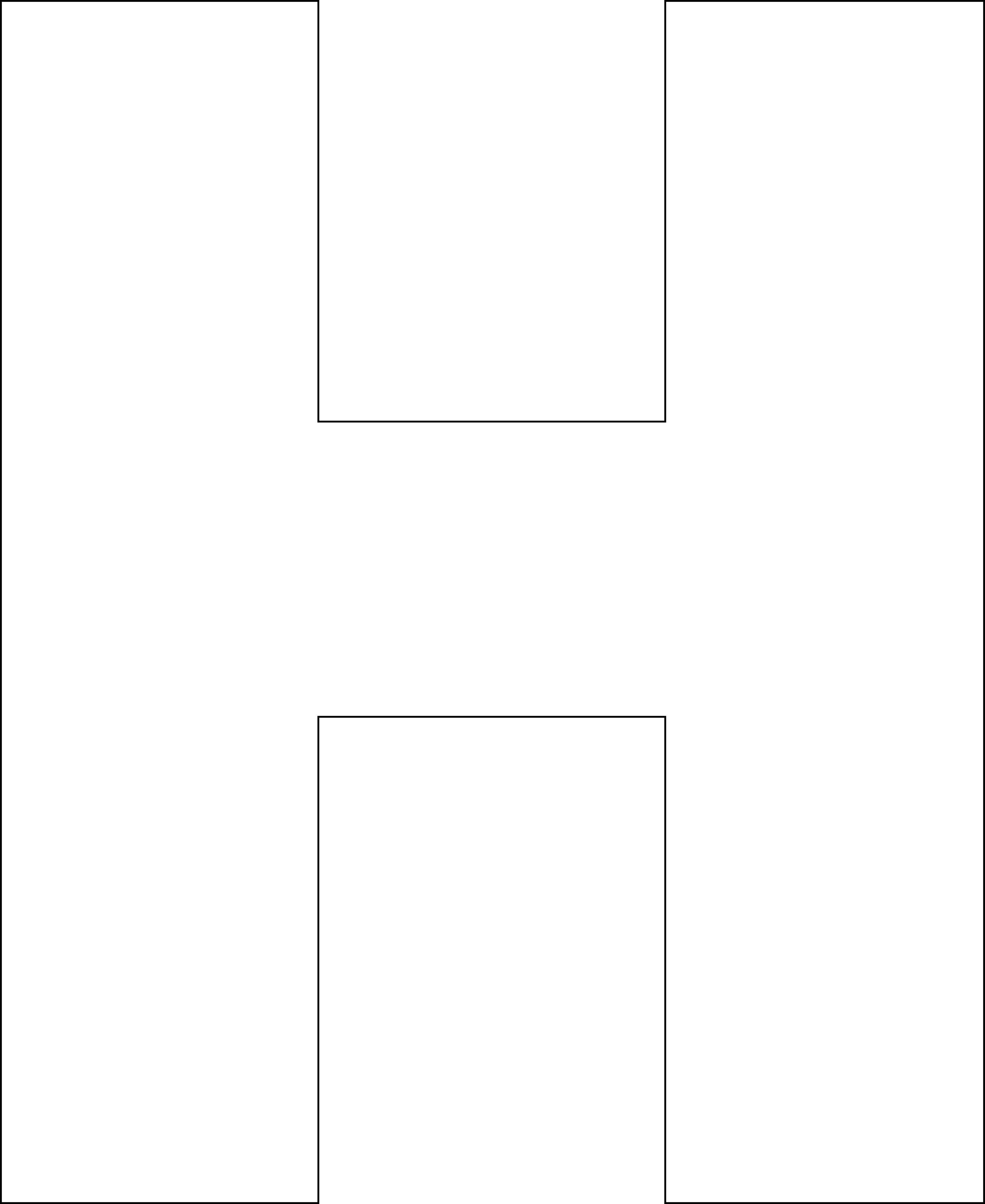Free Printable H Template