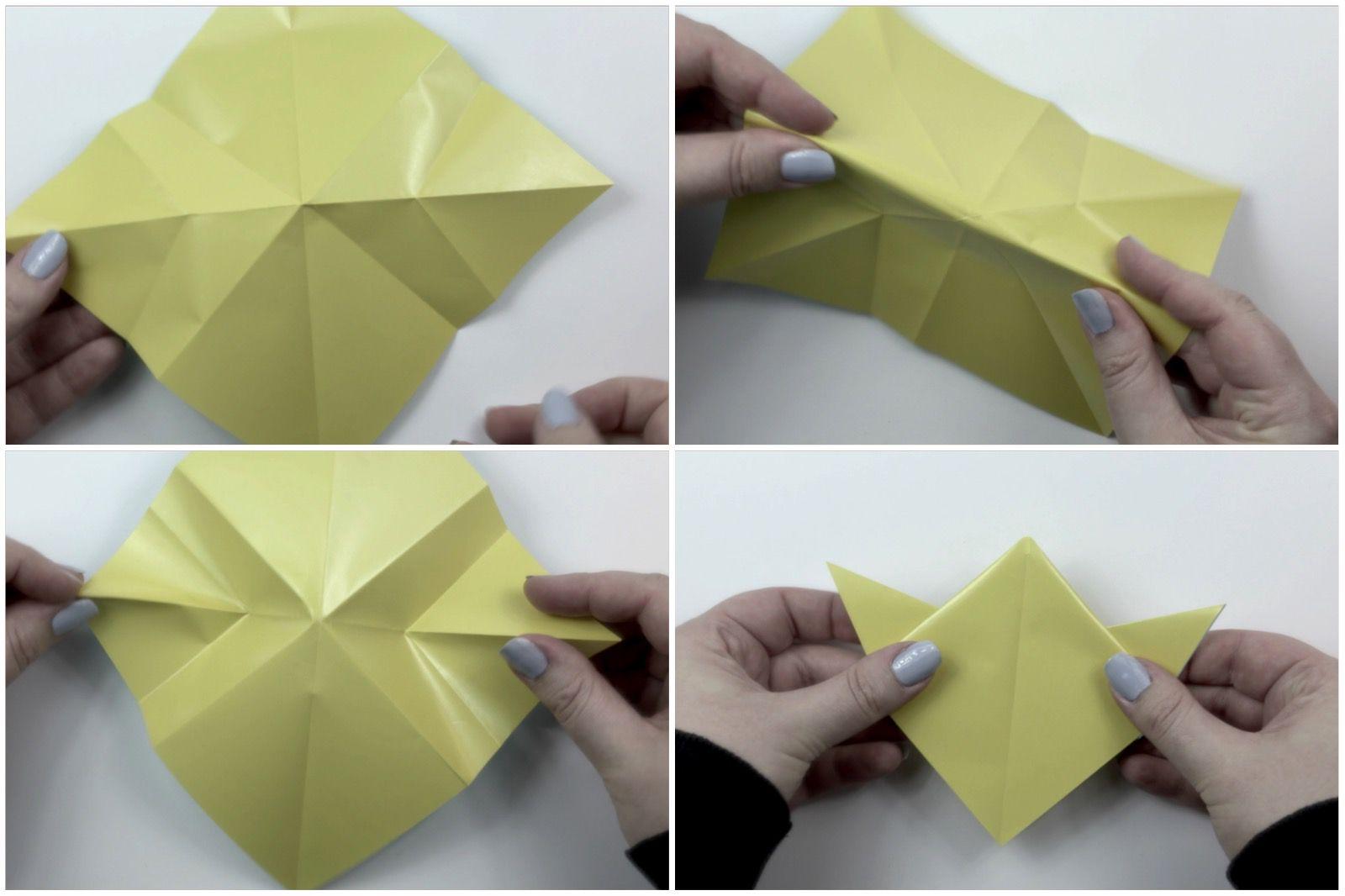 easy origami star tutorial 04