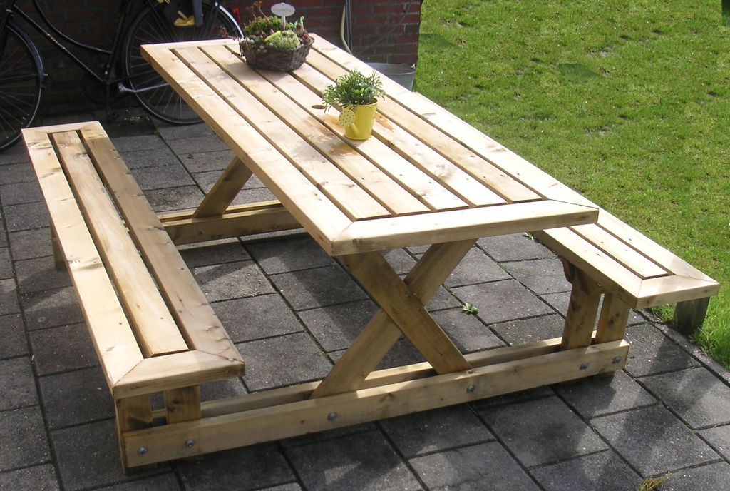 Terrific 15 Free Picnic Table Plans In All Shapes And Sizes Evergreenethics Interior Chair Design Evergreenethicsorg
