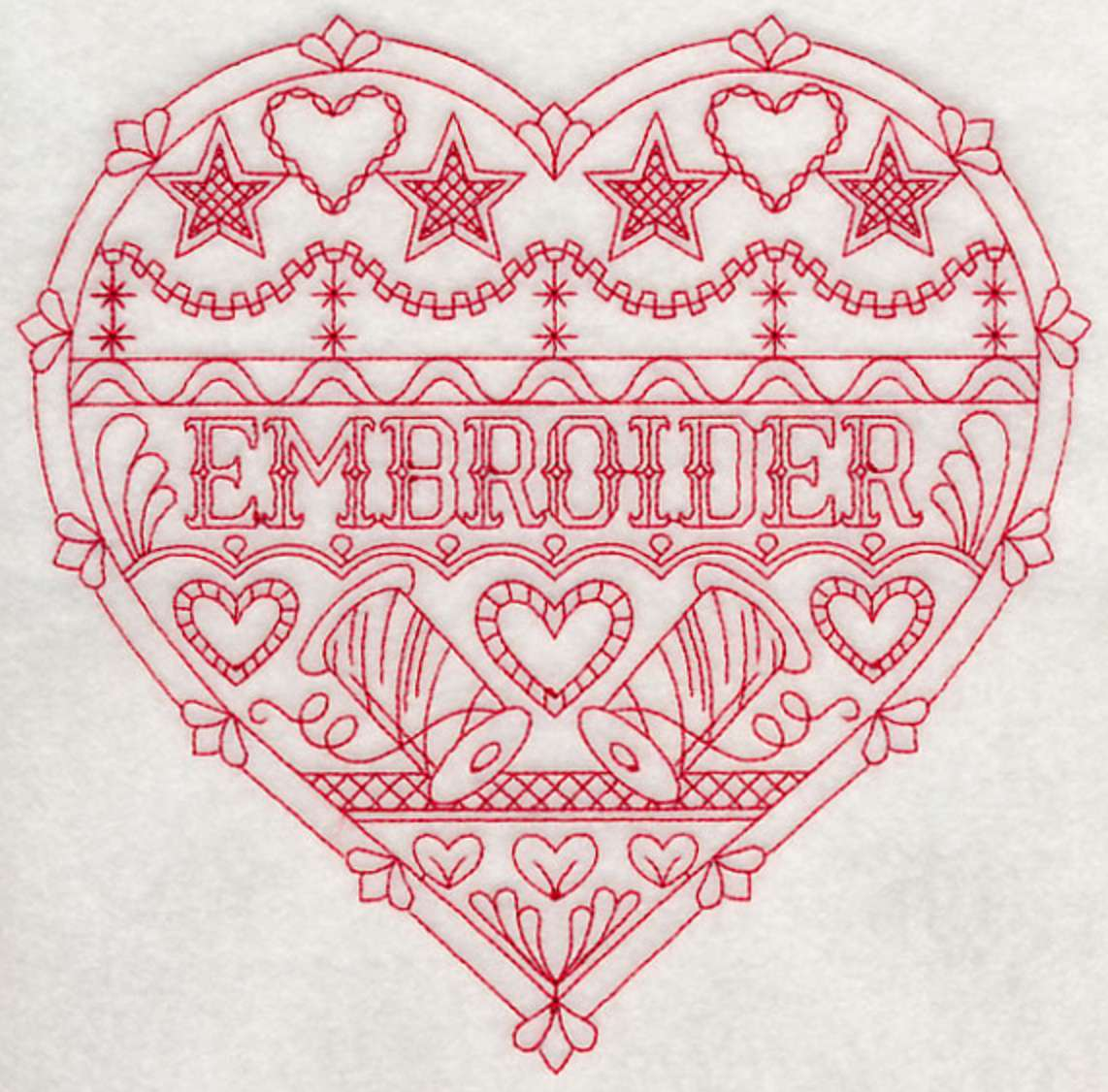 Embroider Redwork Pattern for Machine Embroidery
