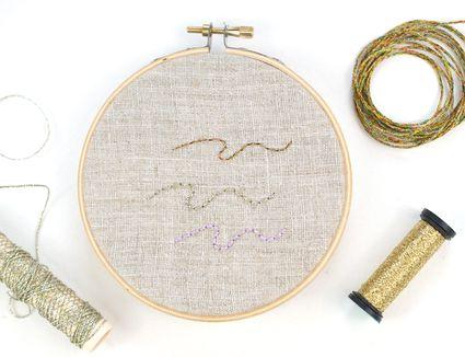 Stitching with Metallic Threads