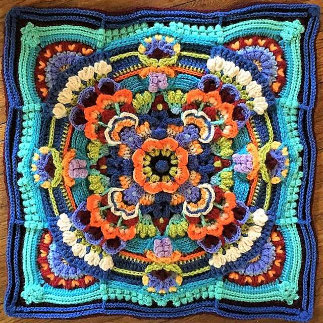Floral Crochet Afghan Square