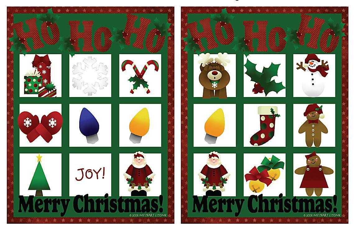 11 Free, Printable Christmas Bingo Games for the Family