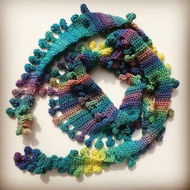 Crochet Pom Scarf Pattern