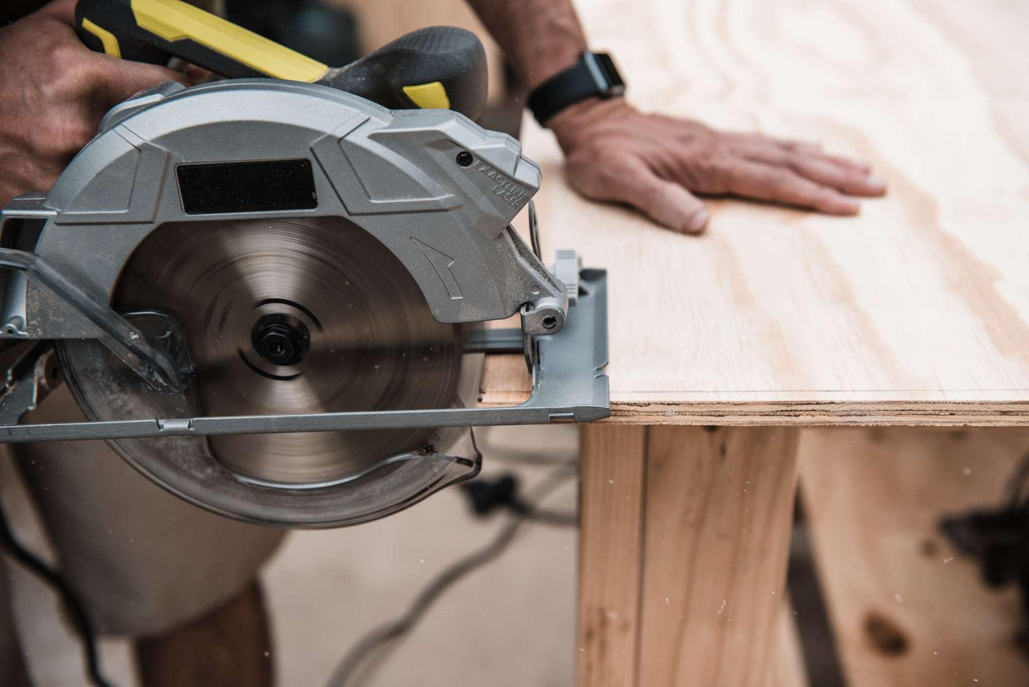 using a circular saw