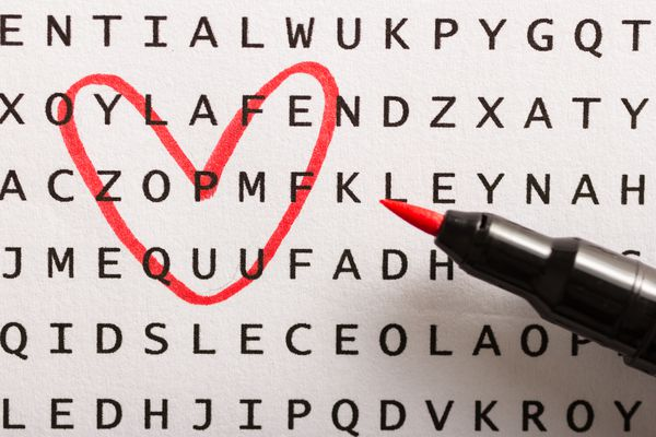 Word search, puzzle. Concept about finding, you, me.