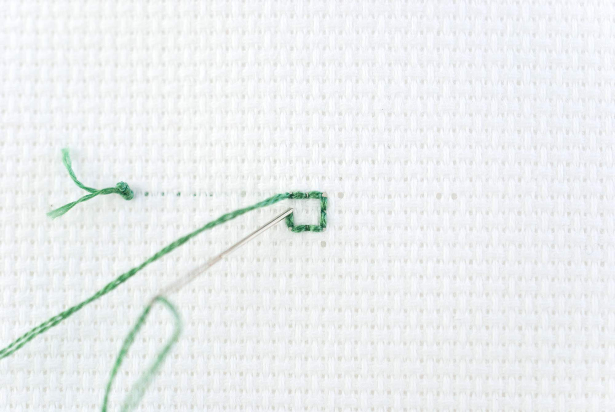 A First Lesson on Back Stitching
