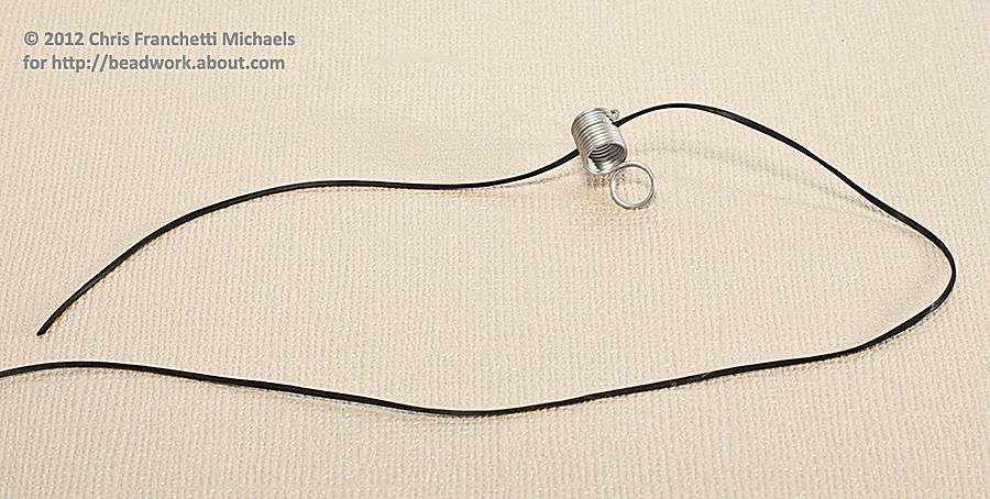 Using a Bead Stopper with Elastic Cord