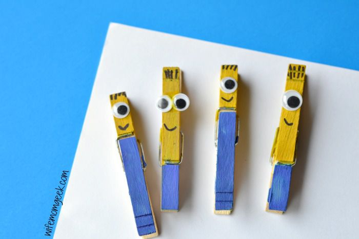 Minion painted clothespin crafts