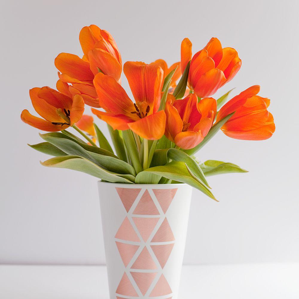 DIY Geometric Copper Vase