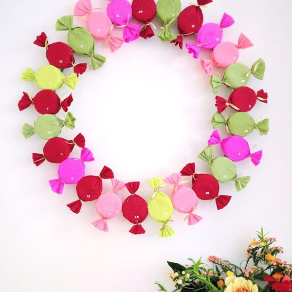 Candy Advent calendar wreath