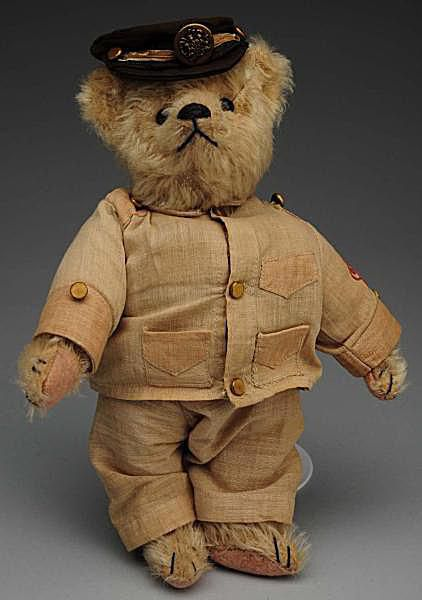 "Ca. 1930s Steiff Mohair 1930s Teddy Bear with Original ""Teddy B"" Outfit"