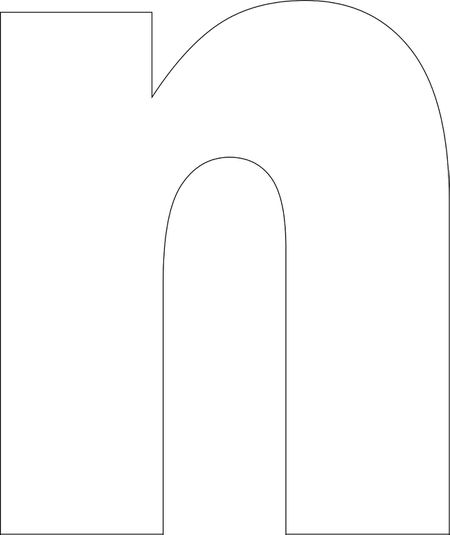 Free printable lower case alphabet letter template free printable n template spiritdancerdesigns Choice Image