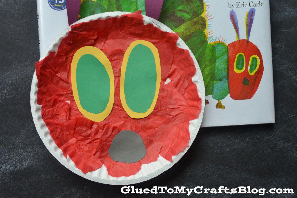 paper plate caterpillar kids craft