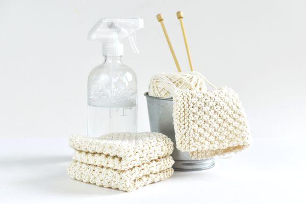 Irish Moss Dishcloth Knitting Pattern