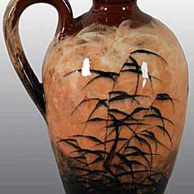 Rockwood Brown Handled Vase