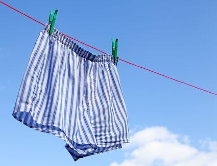 drying mens boxer shorts