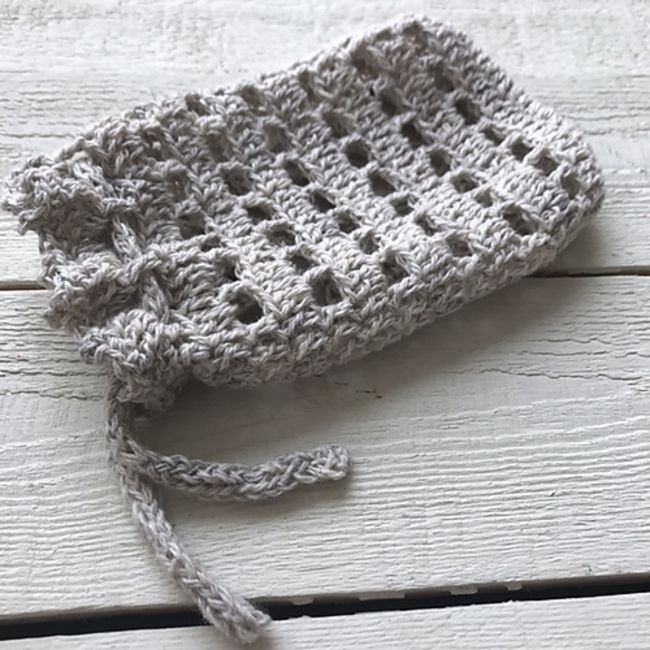 Lace Crochet Pouch Free Pattern