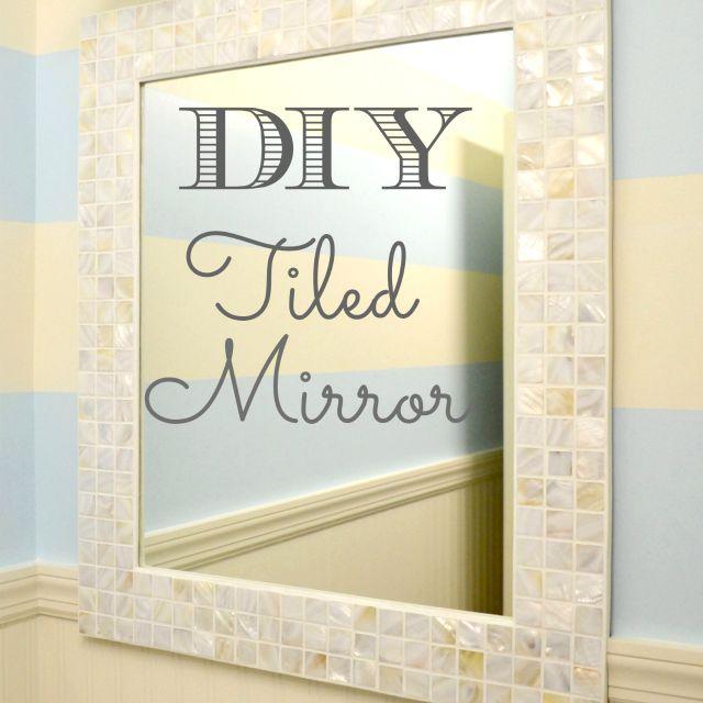 DIY bathroom mirror project