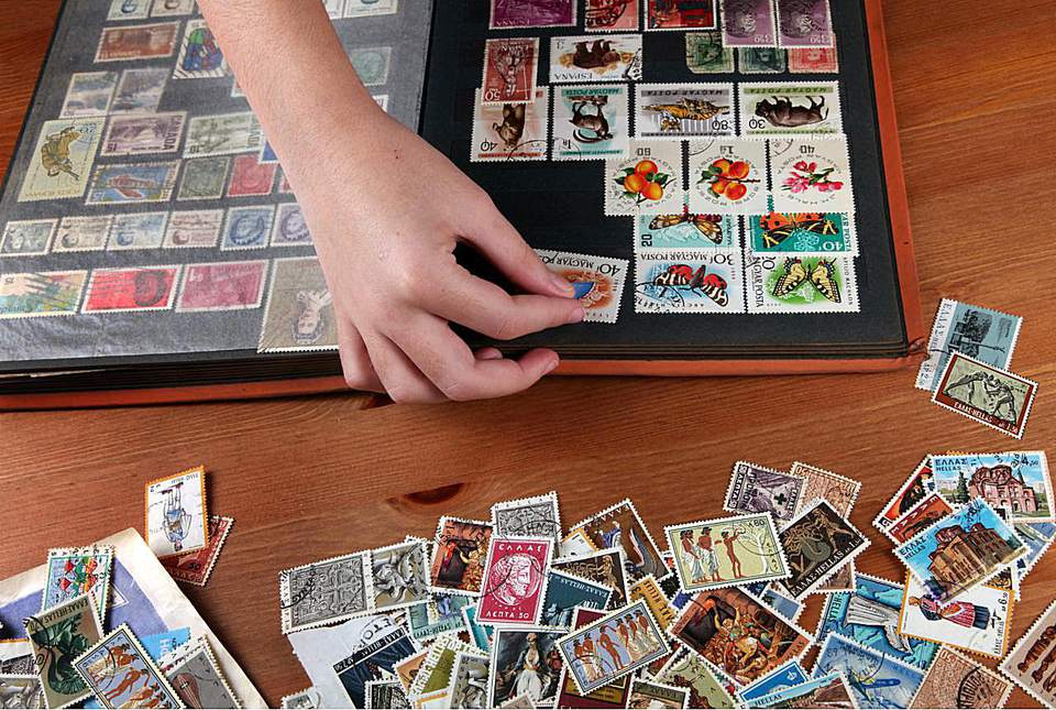 Collecting stamps