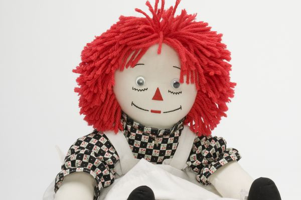 Red haired rag doll