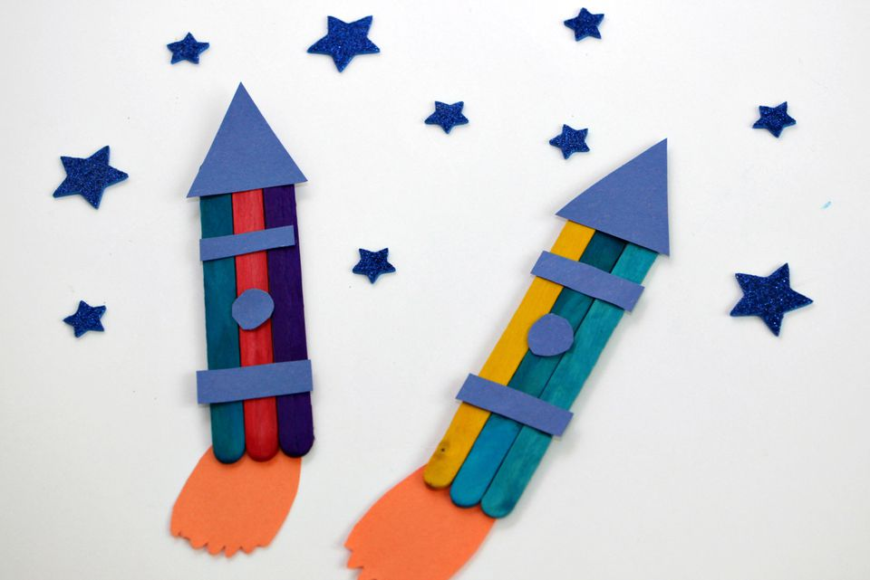 Craft Stick Rocket Ship Craft