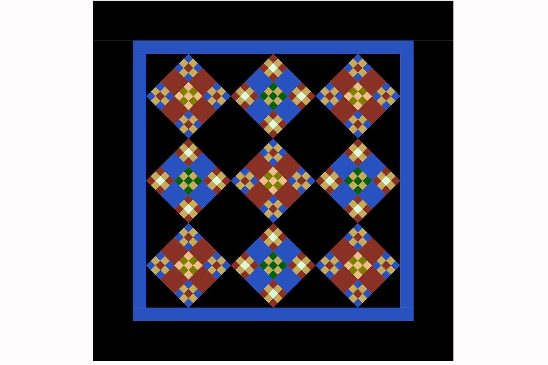 Miniature Double Nine Patch Quilt