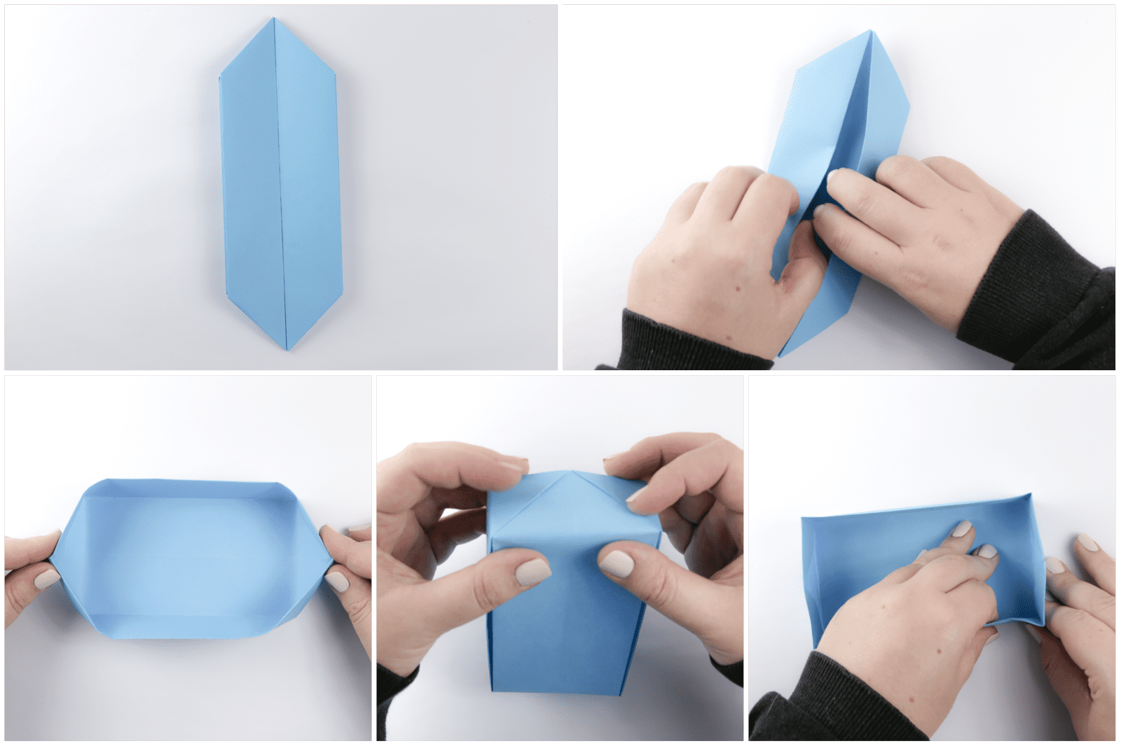 Origami Rectangular 'Envelope' Box Tutorial - Paper Kawaii   1066x1600