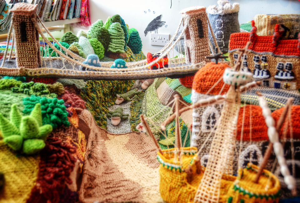 Bristol in Wool Knit and Crochet Art