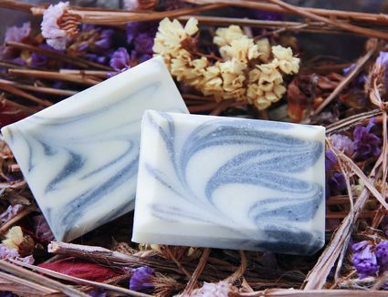 High Angle View Of Soaps On Flowers