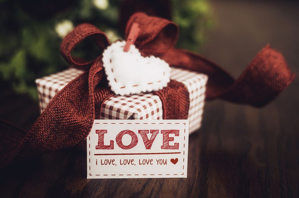 A love coupon with a gift
