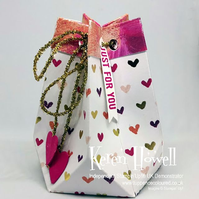 how to make a faceted gift bag