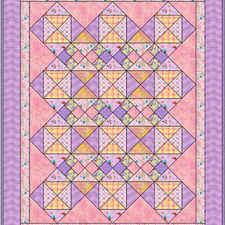 In the Pinks Baby Quilt Pattern