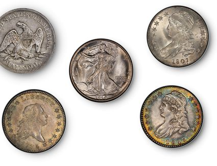 five of the most valuable United States half dollars