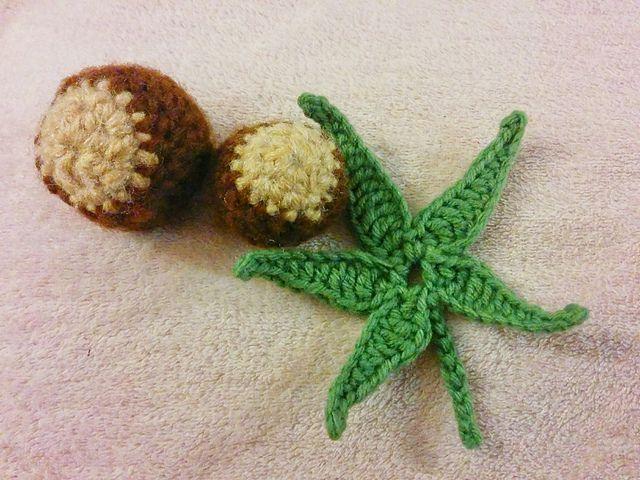 Buckeye leaf crochet pattern