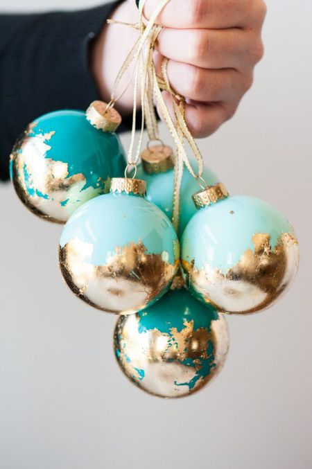 How to gold leaf clear glass ornaments