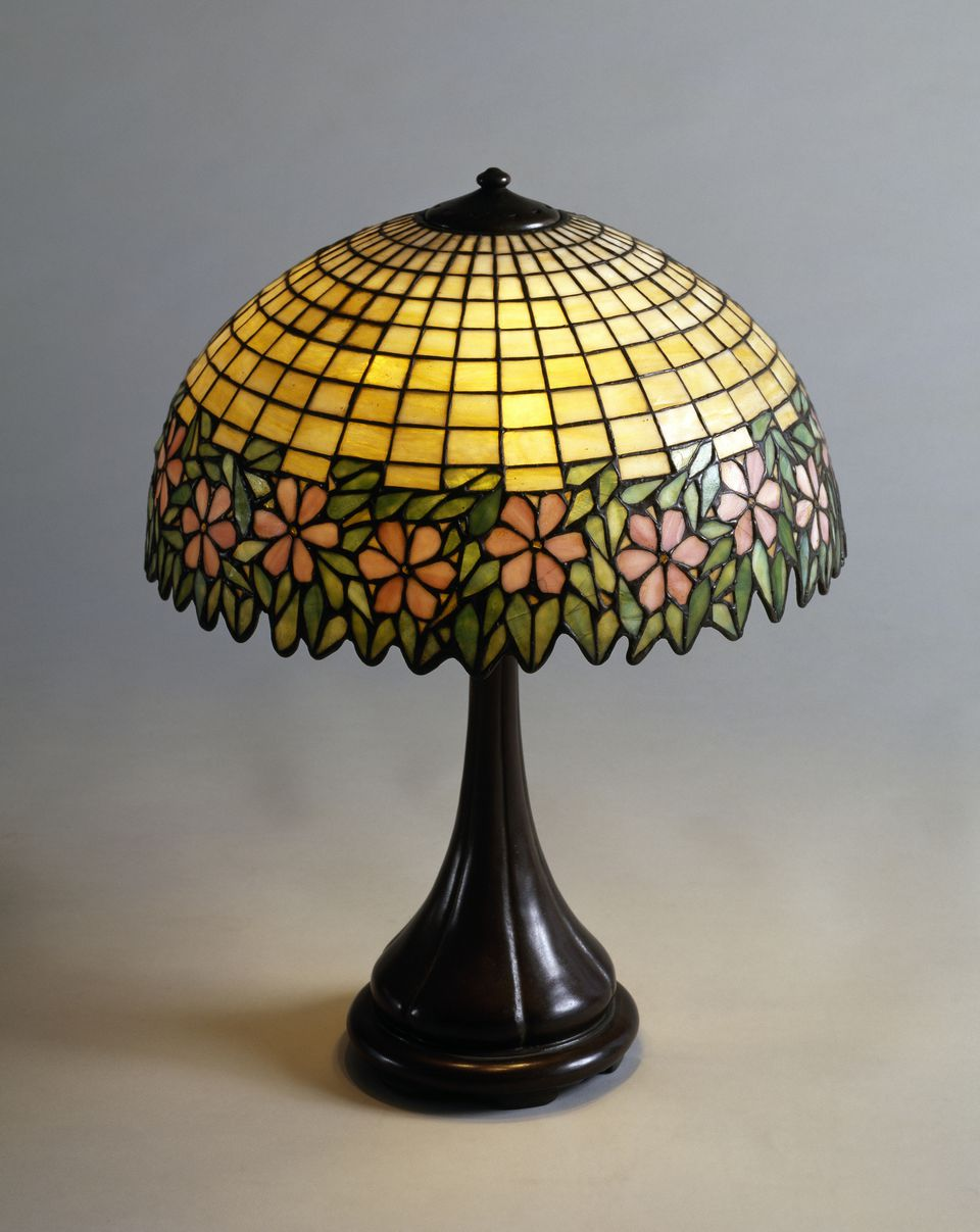 Handel lamp in glass paste and bronze, 1900, Art Nouveau, Tiffany Studios, United States of America, 19th century