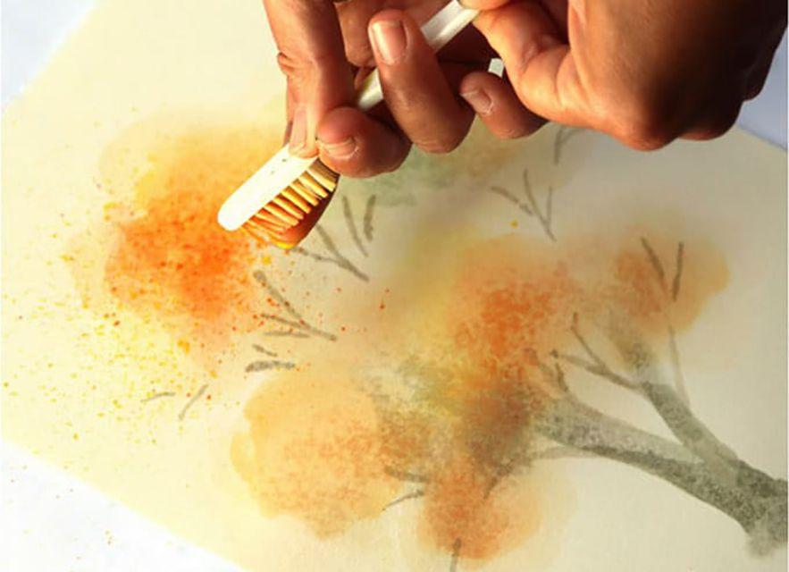 splatter paint technique